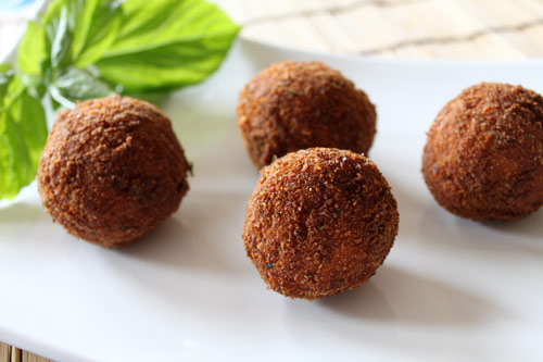 Italian Fried Rice Balls known as Arancini Recipt
