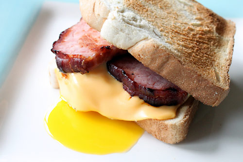 Bacon, Egg, and Cheese Breakfast Sandwich