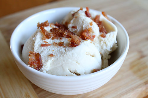 Maple Ice Cream with Bacon