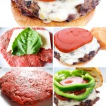 Pizza Burger stuffed with Mozzarella Cheese and Fresh Basil