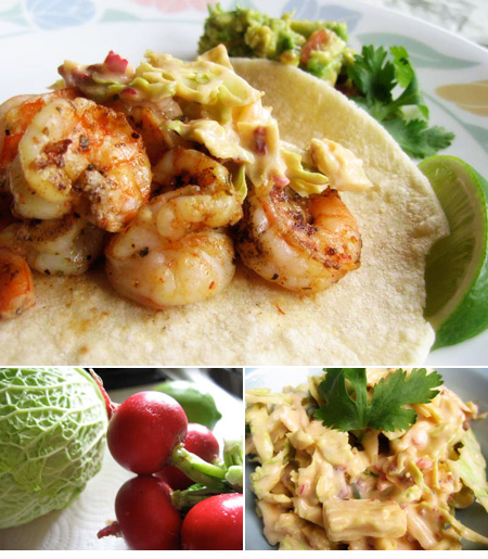 Shrimp Tacos with Creamy Chipotle Coleslaw