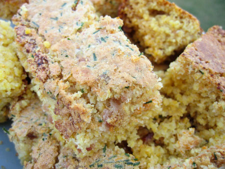 Bacon and Chive Cornbread