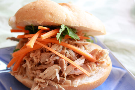 Asian Pulled Pork Sandwich