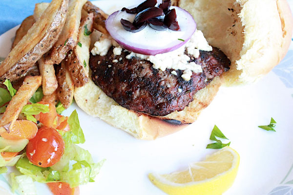 Greek Burger with Tzatziki Sauce