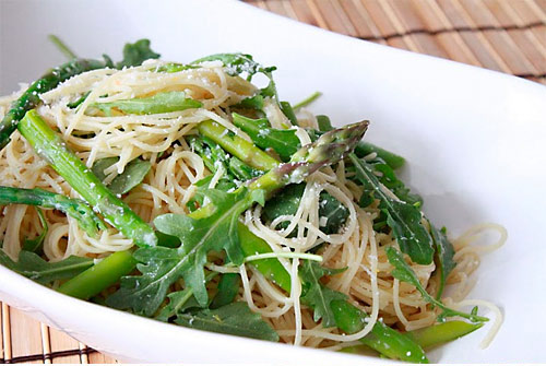 Capellini with Asparagus and Arugula Recipe