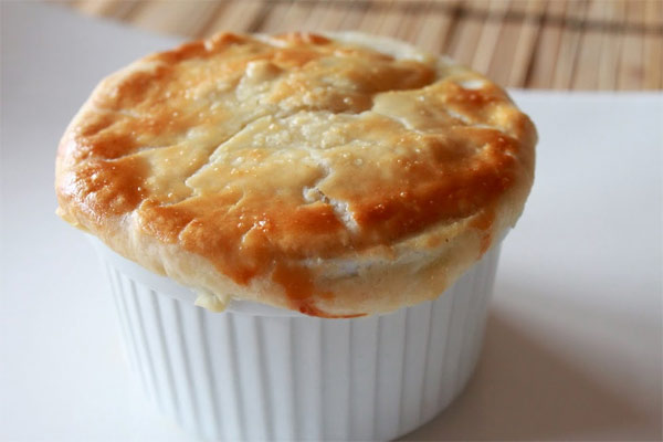 Recipe for making mini pot pies