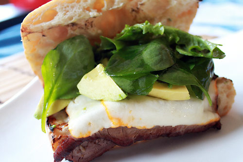Smoked Cheese Steak Sandwich