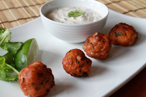 Thai Fish Balls with Lime Mayonnaise