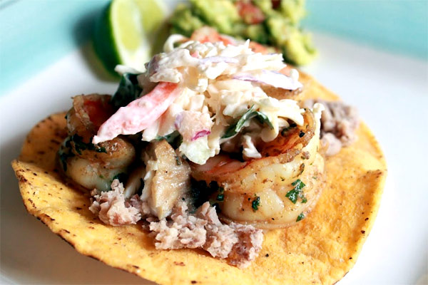 Margarita Shrimp Tostada