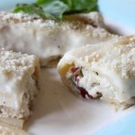 Stuffed Cannelloni with Chicken and Bacon