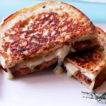 Toasted Ciabatta Sandwich with Bacon and Brie
