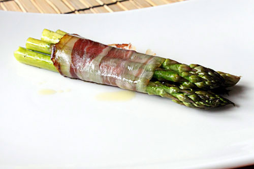Prosciutto and Cedar Wrapped Asparagus Bundles