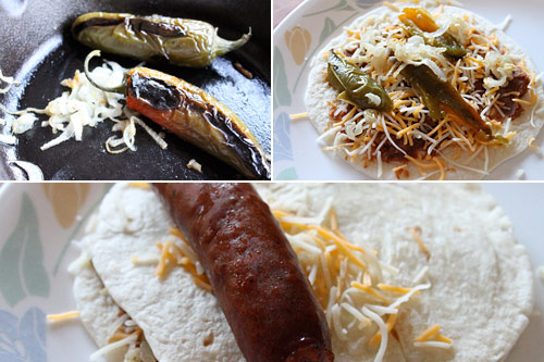 Recipe for making Mexican Hot Dogs