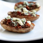 Bacon Cheeseburger and Blue Cheese Potato Skins Recipe
