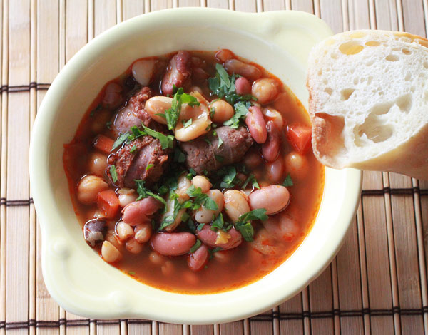 Chorizo and Mixed Beans Soup