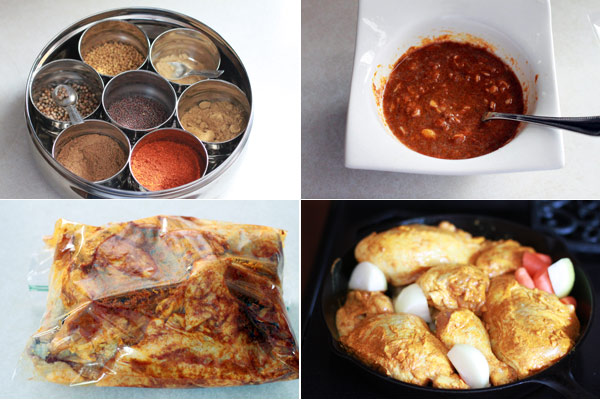 Ingredients for making Indian Chicken
