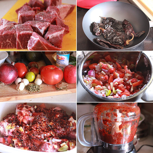 Mexican Beef Stew Ingredients