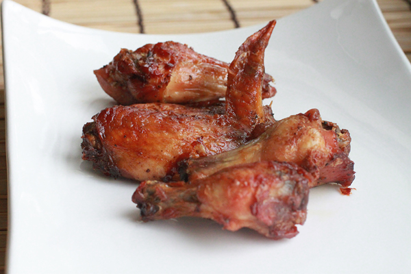 Recipe for making baked chicken wings