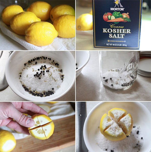 Ingredients for making Preserved Lemons