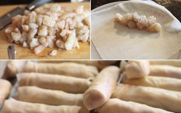 Ingredients for making shrimp egg rolls recipe