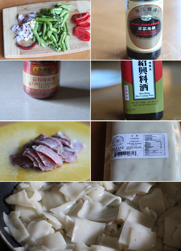 Chinese Chow Fun Ingredients