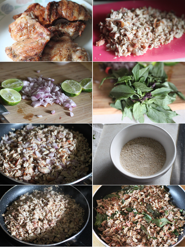 Grilled Chicken Larb Ingredients