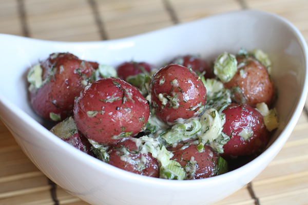 Potato Salad with Garlic and Dill Recipe