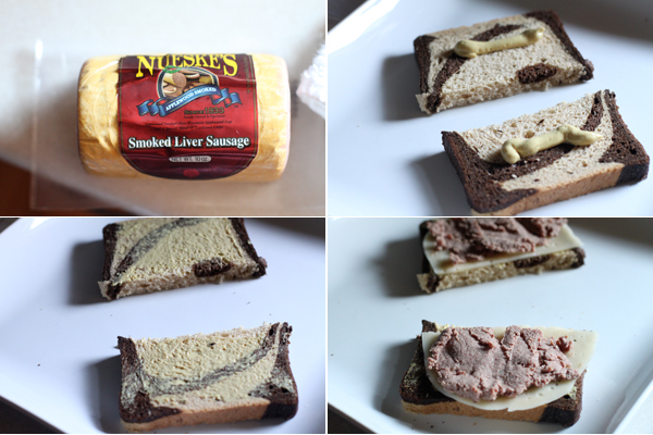 Open-Faced Liverwurst Sandwich