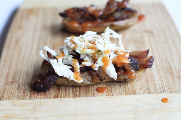 Pulled Pork Potato Skins Recipe