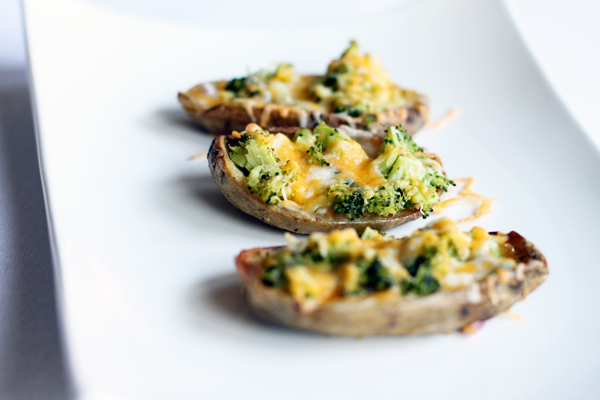 Broccoli and Cheese Potato Skins Recipe