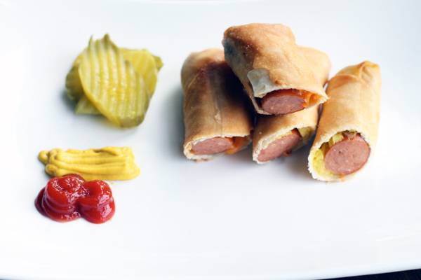Hot Dog Egg Rolls