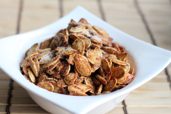 Recipe Cinnamon and Sugar Pumpkin Seeds