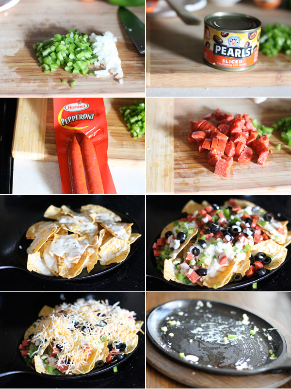 Ingredients for making Pizza Nachos
