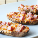 Ham and Cheese Potato Skins Recipe