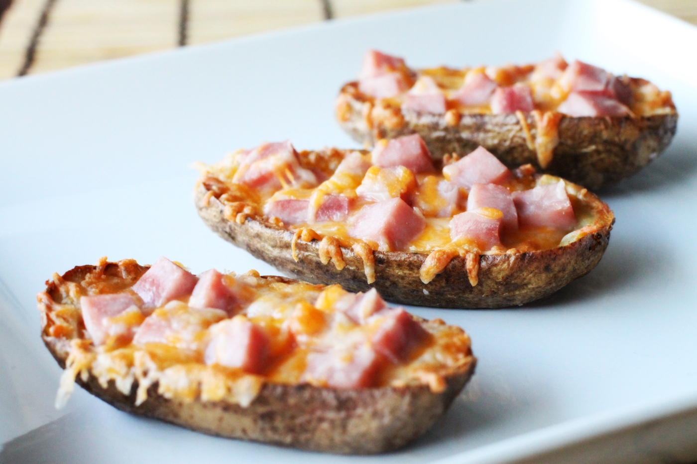 Ham and cheese potato skins simple comfort food recipes that are ham and cheese potato skins recipe forumfinder Gallery