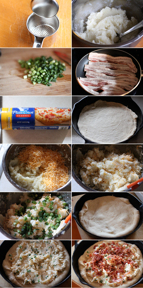 Loaded Baked Potato Pizza Ingredients