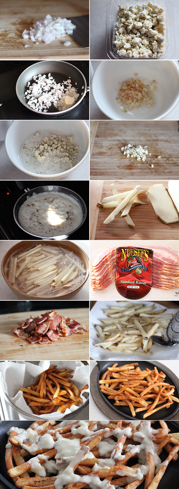 How to make homemade french fries bacon