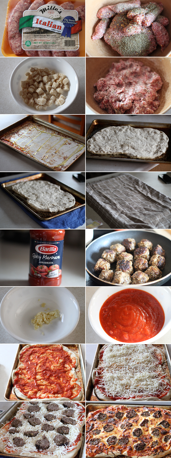 How to make a meatball pizza recipe