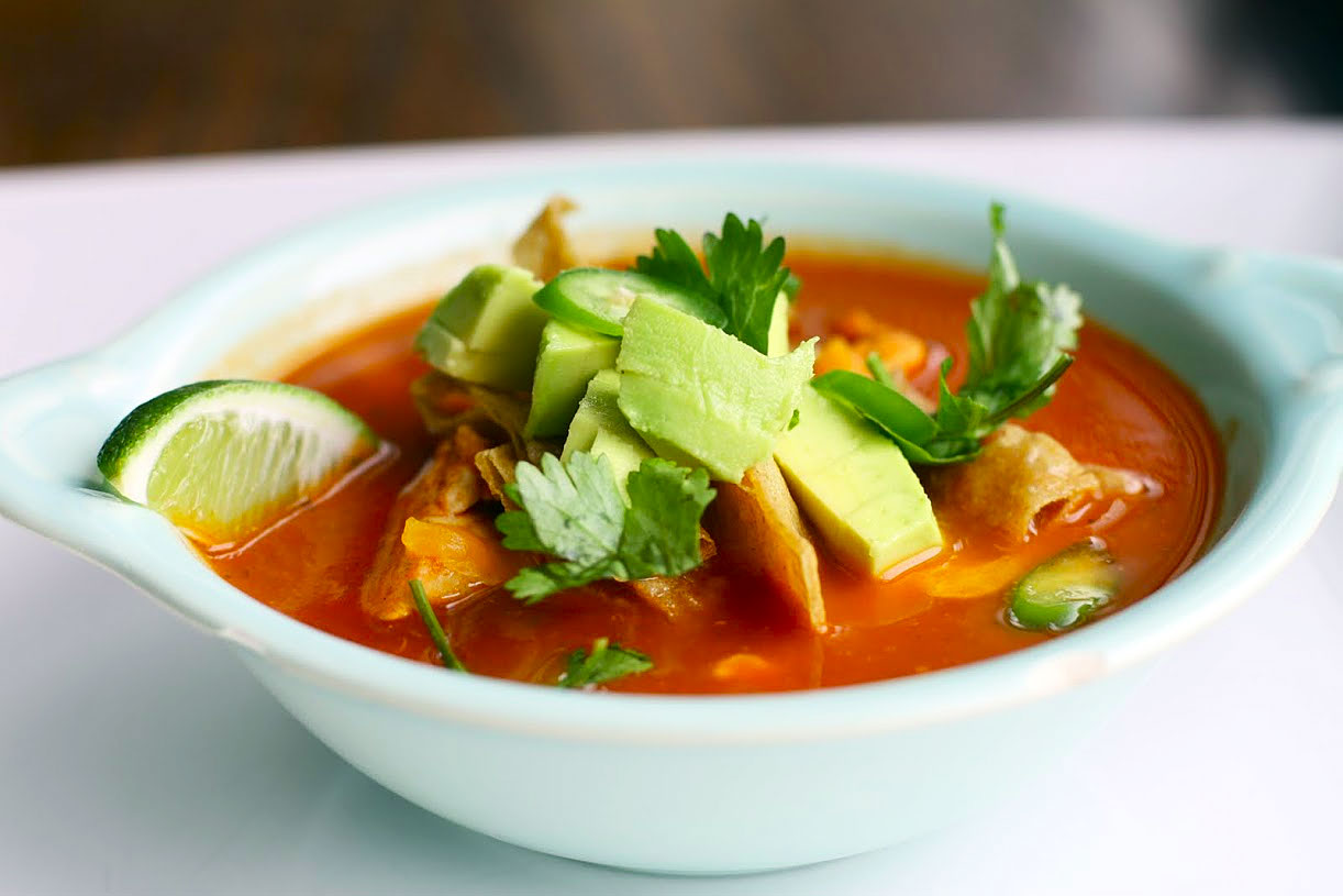 Chicken Tortilla Soup Recipe — Dishmaps