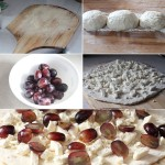 How to make a pizza with grapes and feta cheese