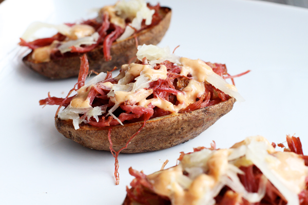 Reuben Potato Skins Recipe