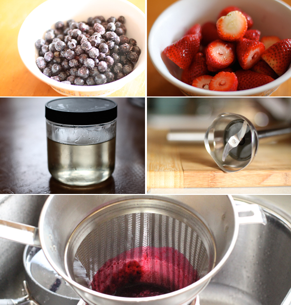 How to make blueberry agua fresca
