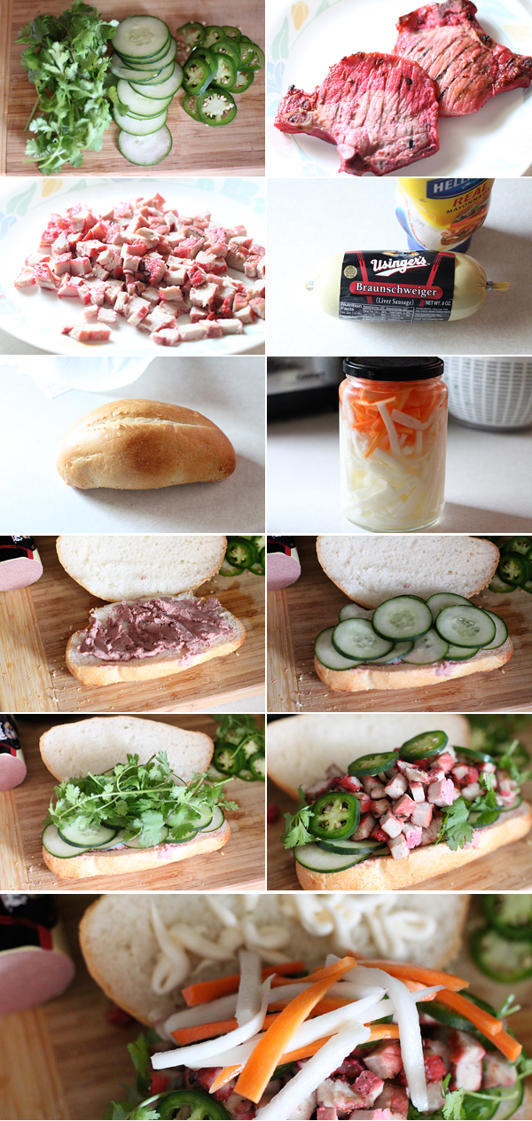 How to make a Vietnamese Banh Mi Sandwich