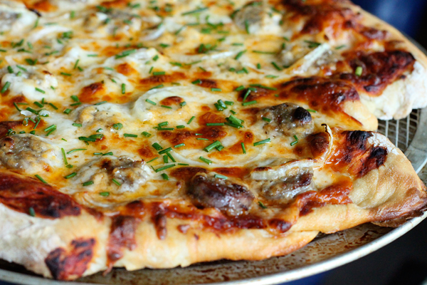 Wisconsin Bratwurst Pizza