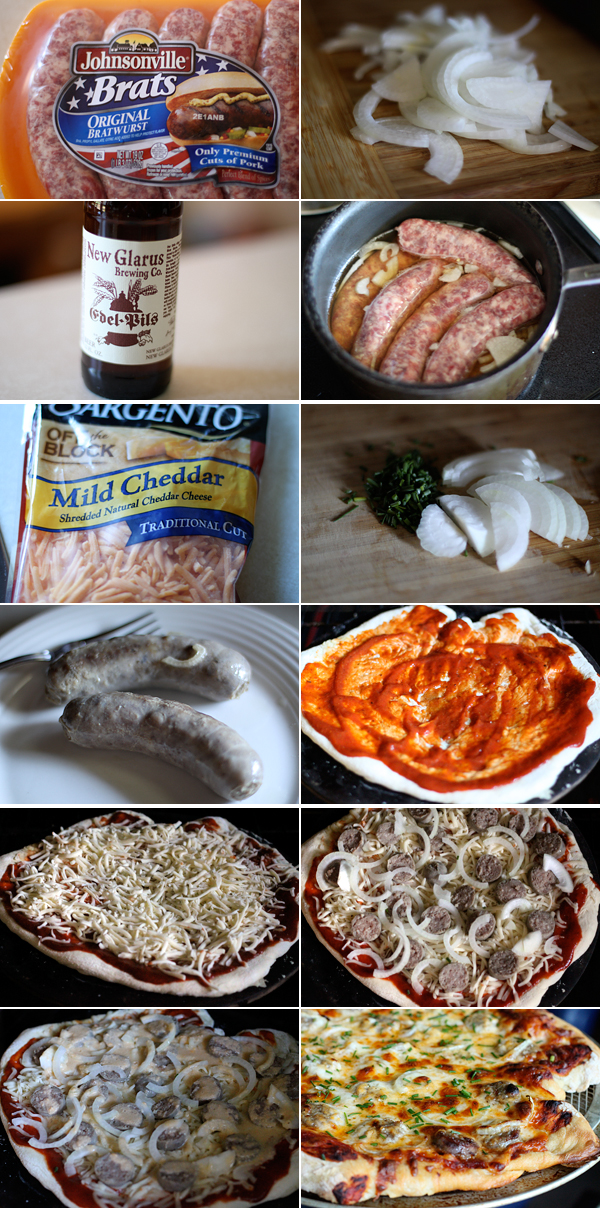 How to make a Wisconsin Bratwurst Pizza