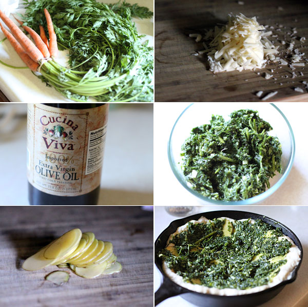 How to make carrot top pesto recipe