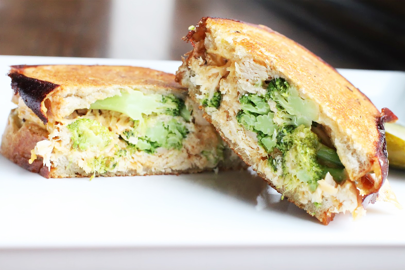 Broccoli And Cheddar Grilled Cheese Sandwich Recipe