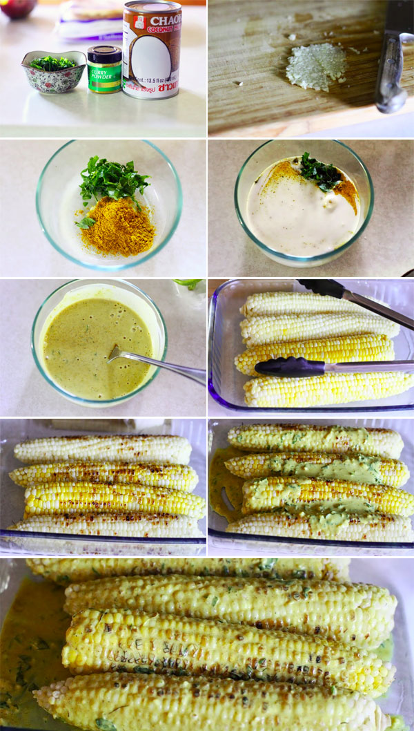 Grilled Corn With Coconut Milk Recipe — Dishmaps