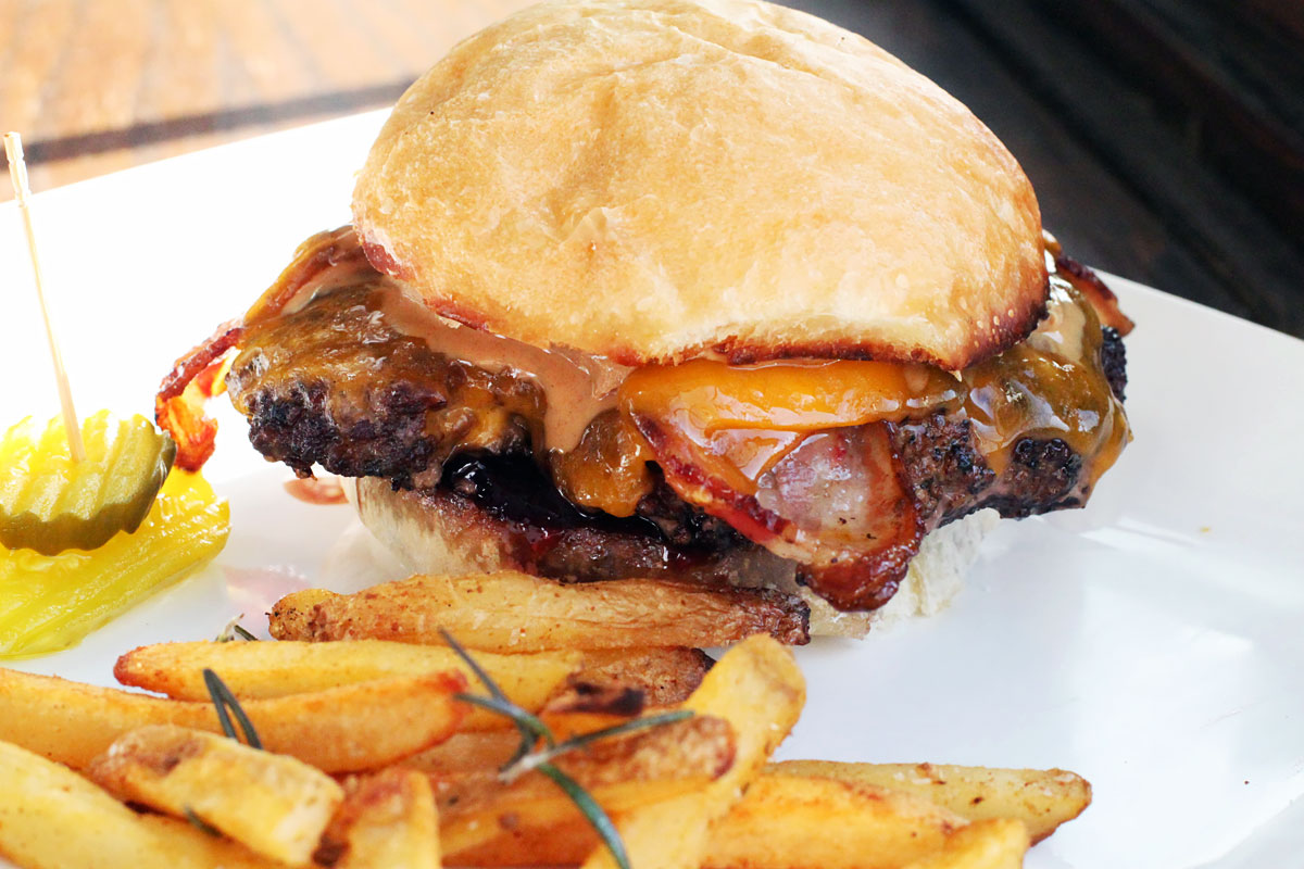 Peanut Butter And Jelly Bacon Cheeseburger