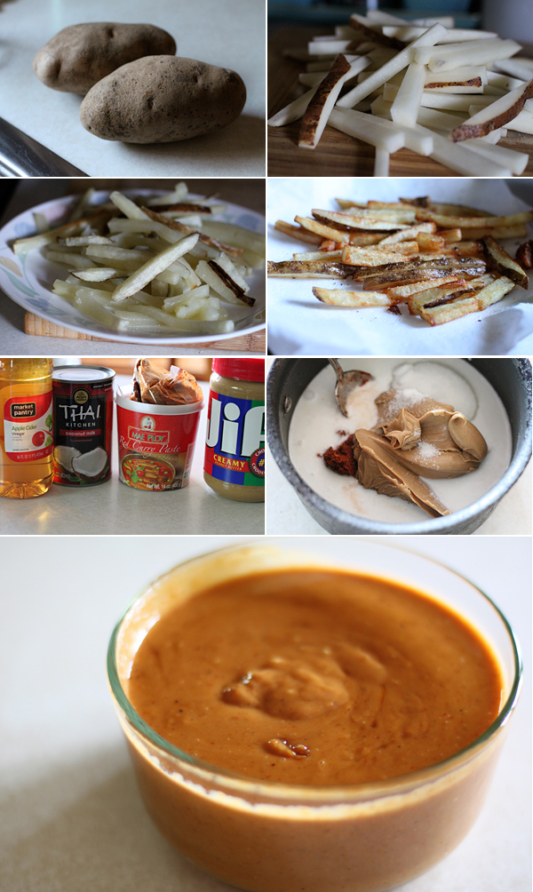 How to make Chicken Satay French Fries
